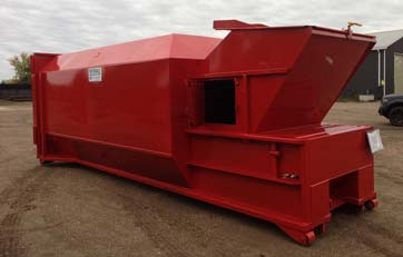 Rotobale Compaction Solutions - painted red