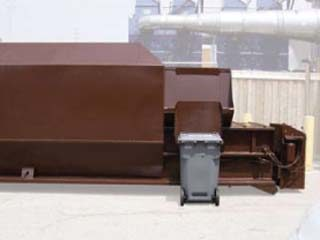 Enclosed Hopper with Cart Dumper