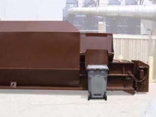 Enclosed Hopper with Cart Dumper