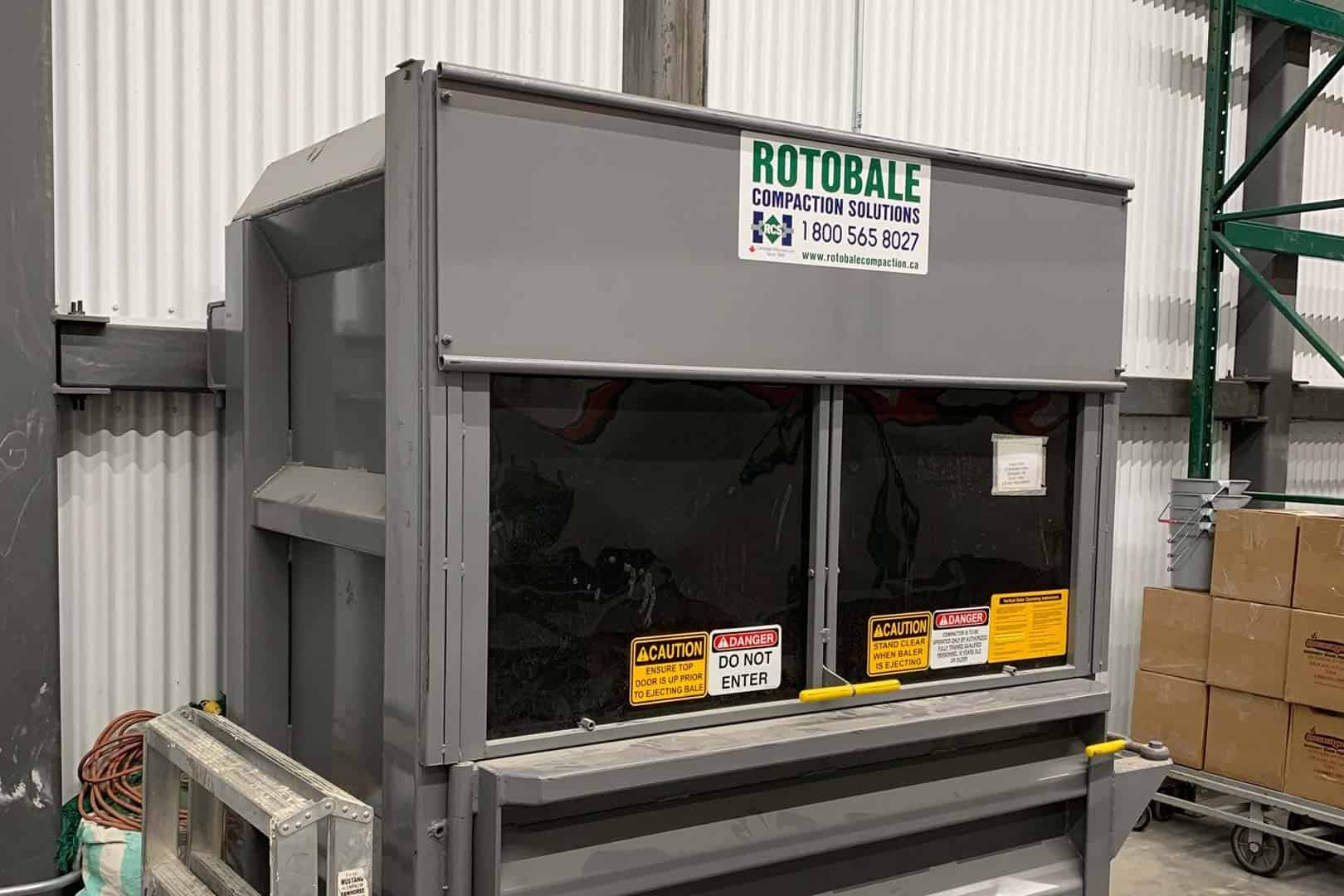 Grocery Store Wet Waste Management Solutions by Rotobale Compaction