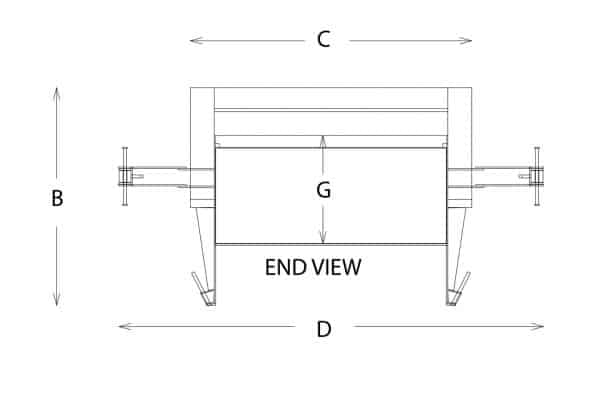 stationary compactor drawing sheet end