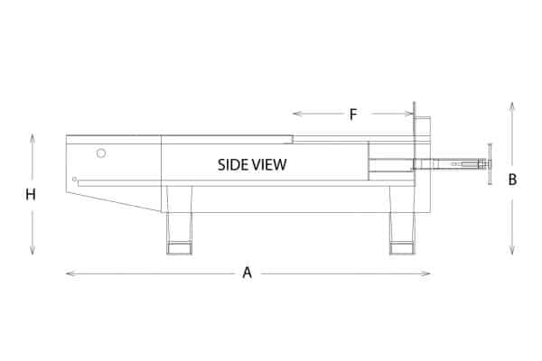 stationary compactor drawing sheet side