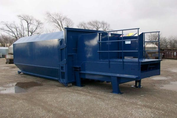 Heavy Duty Stationary Trash Compactors by Rotobale