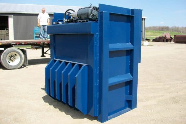 vertical cardboard baler from Rotobale Compaction