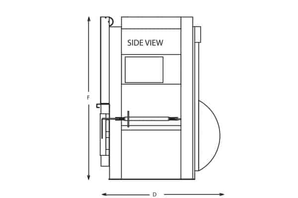 vertical baler drawing sheet side