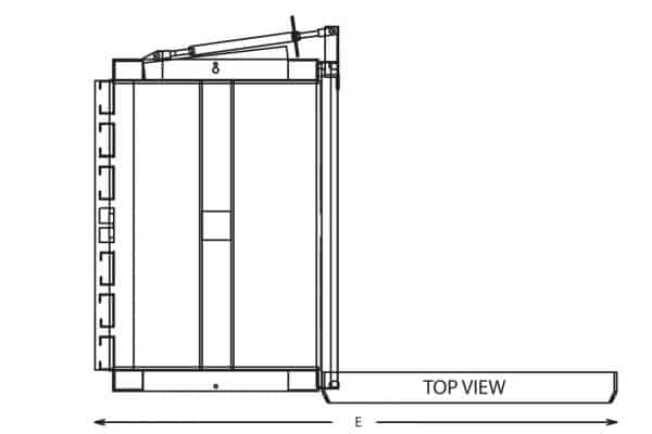 vertical baler drawing sheet top