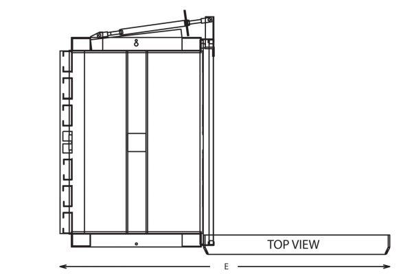vertical baler drawing sheet top